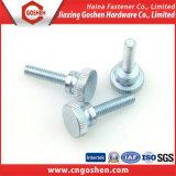 Parafusos de máquina serrilhados galvanizados do polegar (m1~m10)