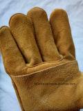 Водонепроницаемый сварки перчатки длинные кожаные сварки вещевого ящика