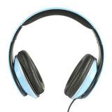 Lightweght Wire Над-Ear HD Stereo Headset Soft Leather Ear Cups с встроенным Mic