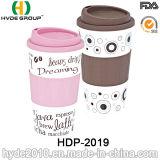 Doppel-wandige Isolierplastikkaffeetasse mit Schrauben-Kappe (HDP-2019)