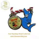 子供のための工場フットボールによって印刷されるファブリックリボンの日本カスタマイズされたメダル