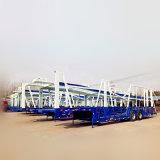 Dubbele Assen Twee de Ladende Aanhangwagen van de Autotransportwagen van Vloeren