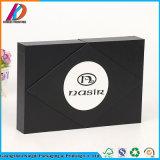 Fantaisie papier noir un emballage cadeau Boîte avec insert en mousse