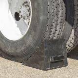 Différentes tailles de cale de roue en caoutchouc pour la voiture et camion