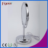 LED Light를 가진 Fyeer Ultra Thin Double Side Cosmetic Table Mirror