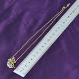 De populaire Manier van Juwelen Dame Yellow Gold Butterfly Pendant Halsband