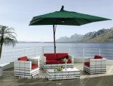 贅沢な余暇の最上質の私達抵抗力があるPE藤の屋外の家具の庭のソファーは単一及び二重シート(YT369)によってセットした