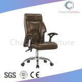현대 가구 사무실 금속 기초 (CAS-EC1848)를 가진 중간 뒤 가죽 회전 의자