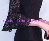 セクシーな背部が開いた玉が付くV首の女性党イブニング・ドレス