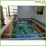 autoadesivo tagliato decorativo del pavimento della stanza da bagno 3D