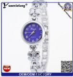 Yxl-805 Moda Señoras Reloj Pulsera De Piedra De Cristal Con Patrón De Flores Steeel Band