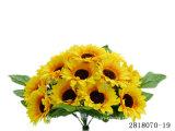 인공 적이고 Plastic/Silk Flower Sunflower 부시 (2818070-19)
