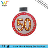 Fabricant IP65 Aluminium Board Solar Road Speed ​​Limit Sign