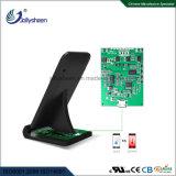 Carcasa negra rápido velero cargador inalámbrico Smart Wireless Qi Cargador cargador inalámbrico