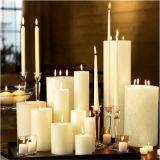Candele senza fiamma luminose di bianco della candela/cono
