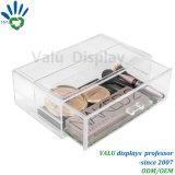 贅沢なアクリルの構成ボックスふたが付いているカスタム明確なアクリルの宝石類の収納箱