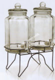 4L Glass Jar met Mason Design