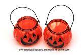 Supporti di candela di vetro di vendita della lampada calda della zucca per la decorazione di festival