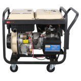 Nuevo tipo de generador de soldadura de gasóleo de color blanco con el tanque de combustible