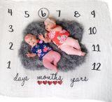 Baby-Meilenstein-Zudecke-Fotographien-Hintergrund SäuglingsmonatsPhotoing Unterseite