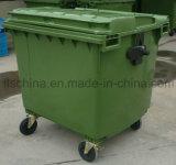 1100L plastic KringloopBak met Maagdelijk HDPE Materiaal