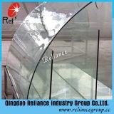 Vidrio templado claro / vidrio templado curvado / escaleras Vidrio templado