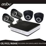 macchina fotografica della strumentazione di obbligazione del CCTV del kit del IP NVR di 4CH Poe per la casa
