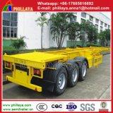 CCC ISO 3axle 40FT de Semi Aanhangwagens van de Container van het Skelet op Verkoop