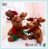 La vendita calda ha farcito il giocattolo di natale della peluche dell'orso della renna