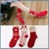Venda a quente presente de Natal Custom 100% algodão meia de Natal