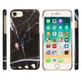 iPhone (6/6s/7/7s/8/8s/X/Plus/Xs Max/Xr/Xs/8plus)のための浅い黒の大理石織り目加工の可動装置か携帯電話のアクセサリ