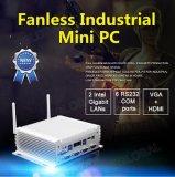 Mini PC industrial 6*com Core i5 4200u Dual Display Ventiladores Carro Suporte PC 4G Calculador SIM