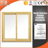 Bella finestra scivolante solida di legno di pino per la vostre cucina/sala da pranzo, finestra aperta del metallo della stoffa per tendine del bene durevole
