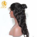 Wave Lace Front Cabelo Humano Perucas com cabelo de bebê Glueless Full Lace Wigs, Brazilian Virgin Full Lace Cabelo Humano Peruca Pony Tail Wig