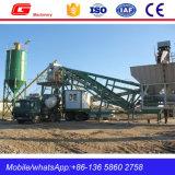 L'usine concrète mobile portative automatique de Batcher a coûté avec le silo (YHZS40)