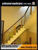 Trilhos de vidro internos/ao ar livre, corrimão exterior da escada/trilhos de vidro decorativos