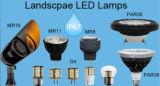 Projecteur de la lampe DEL Mr8 de Dimmable pour le CREE extérieur DEL d'éclairage d'horizontal