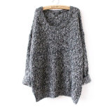 高品質の女性のプルオーバーの緩く不規則なジャンパーのニットのセーター