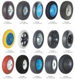 Roda de borracha, roda de espuma de PU, roda plana, roda sólida, roda do carrinho de mão