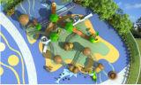 Kaiqi änderte Entwurfs-Eichel-kletterndes Kombinations-Gerät für Kinder mit Plättchen (KQ70026A)