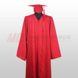 Abito nero rosso opaco della protezione di graduazione di High School