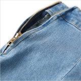 Юбка джинсовой ткани с верхней частью застежки -молнии напечатанной +Strip с втулкой пирофакела