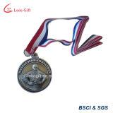 Médaille de métal personnalisée à la vente chaude avec ruban
