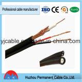 Câble d'alimentation RG6 + 2c pour le câble coaxial de liaison de télévision en circuit fermé de CATV