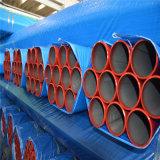 Il colore rosso ha verniciato la lotta antincendio Grooved saldata del tubo della struttura d'acciaio dell'estremità