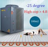 -ヒートポンプに水をまく25度の低温の空気