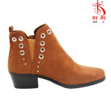 Ботинки лодыжки PU хорошего качества заклепки способа женщин эластичные (AB621)