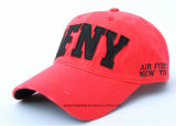 OEM Produce Customized Logo Brodé Promotionnel Rouge Coton Twill Adjustable Sports Baseball Cap