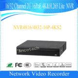 Registratore della Manica 2u 16poe 4k&H. 265 Lite NVR di Dahua 16 (NVR4816-16P-4KS2)