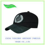 Schwarze schwere Stickerei-Baseball-Sport-Schutzkappe der Pinsel-Baumwolle3d